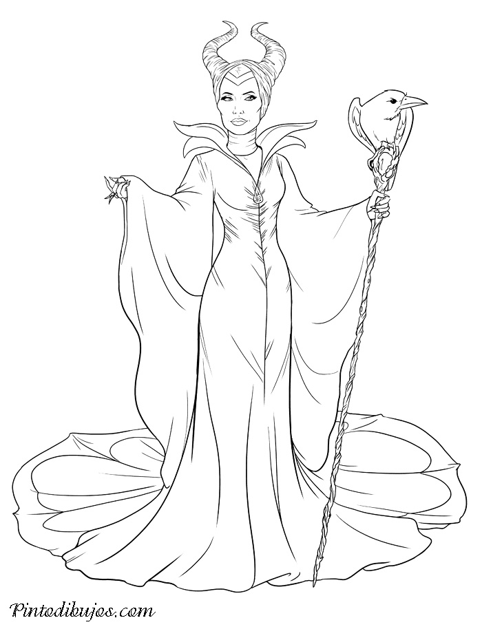 Disney Malefica Az Colorare And The Tr Coloring Pages