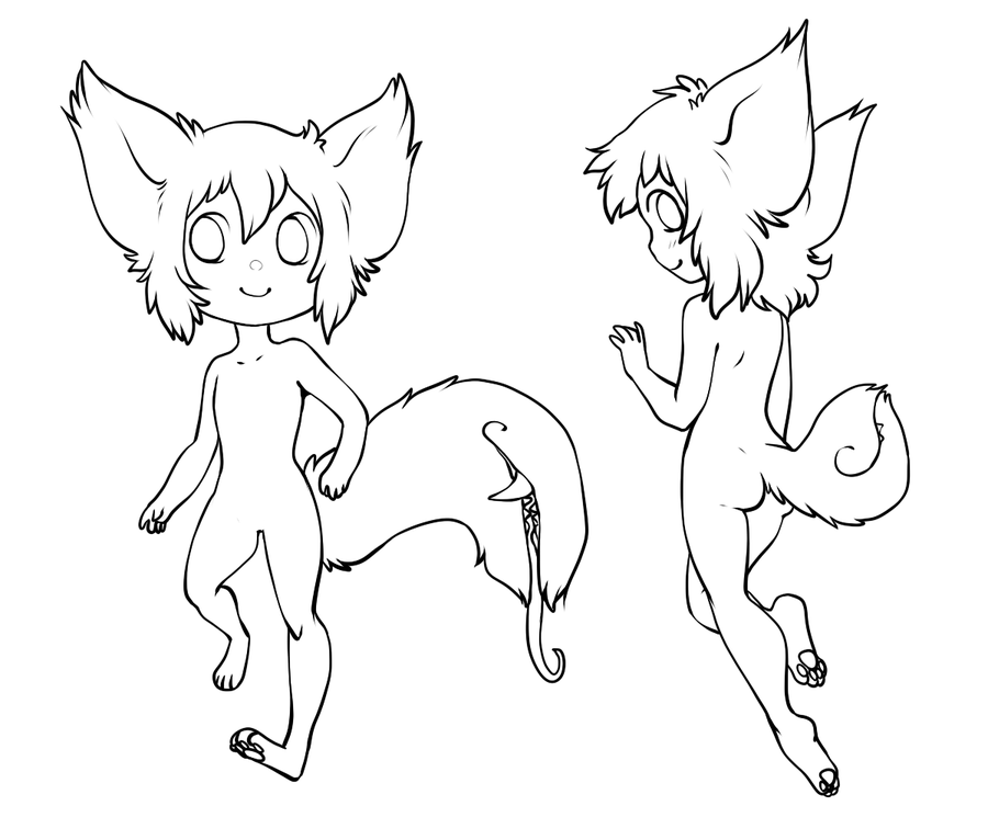 free use lineart - male tailmouth reference by tailmouth on deviantART