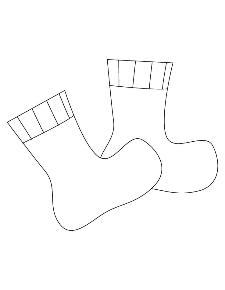 Socks coloring pages | Download Free Socks coloring pages for kids ...