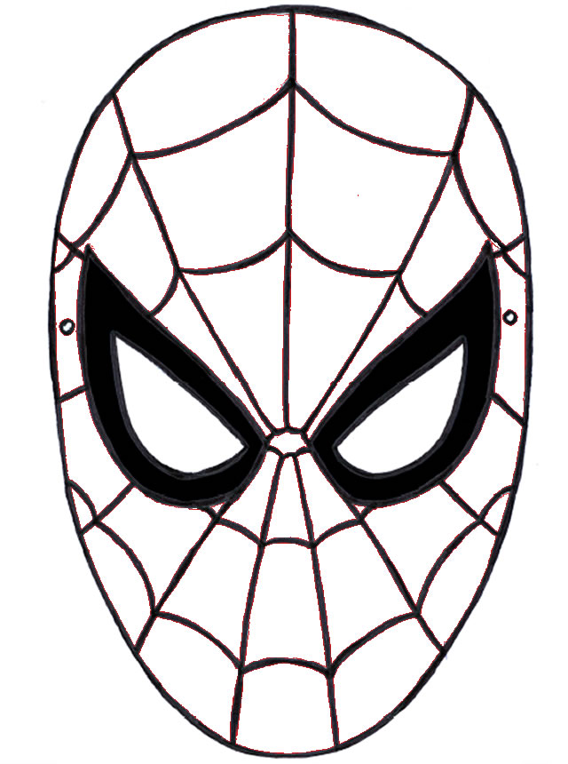 Maschera Di Spiderman Az Colorare