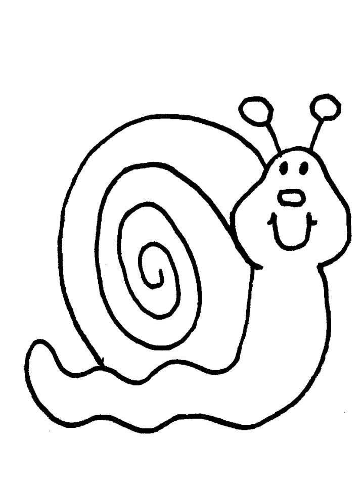 Snails coloring pages