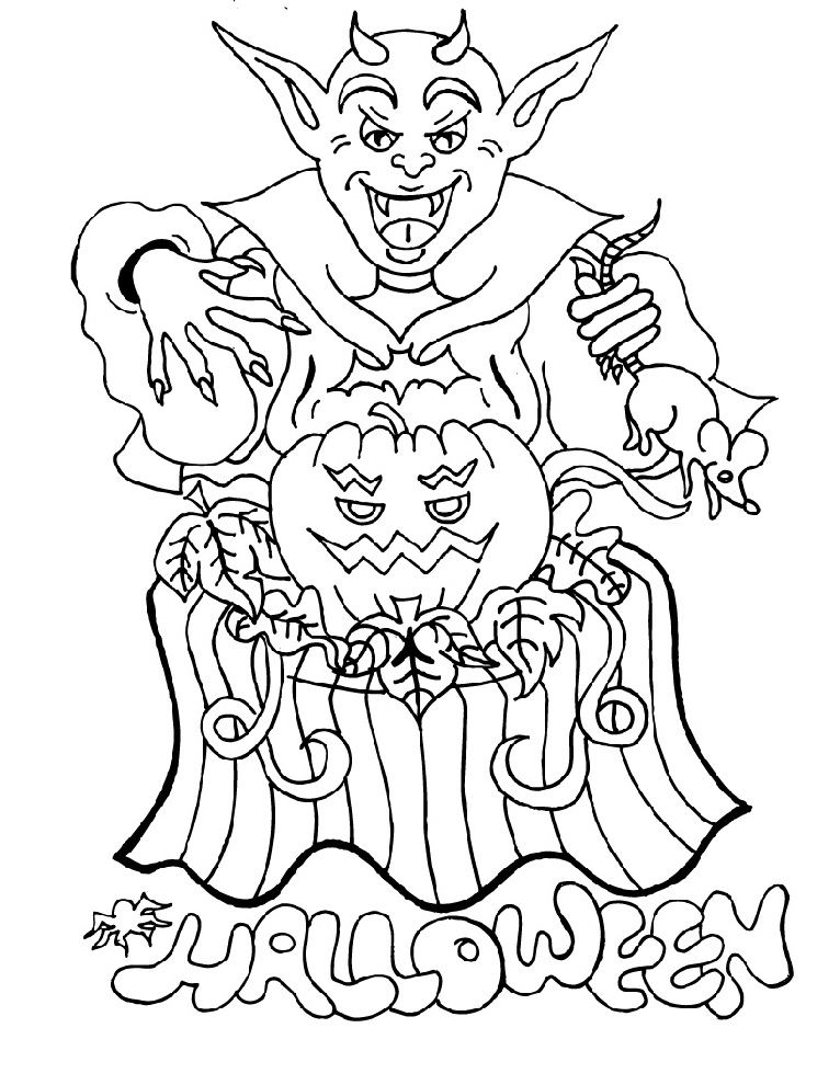 Halloween Disegni Da Colorare Strega Da Colorare In Pdf Pictures ...