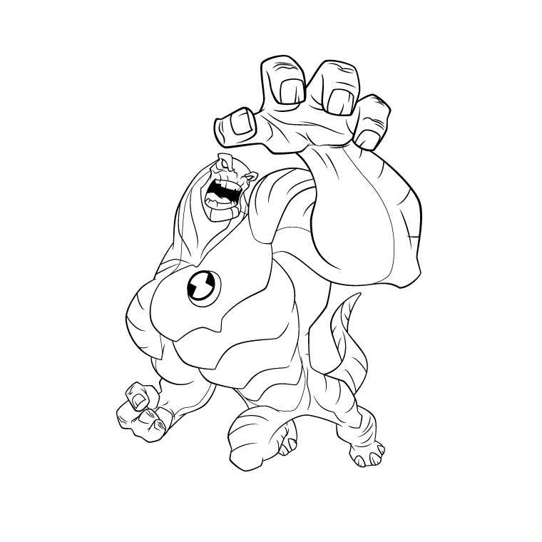 coloriage-ben-10-ultimate-alien | Ben10