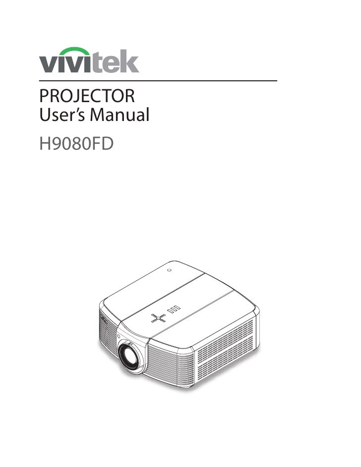 Vivitek User Manual H9080 Fd