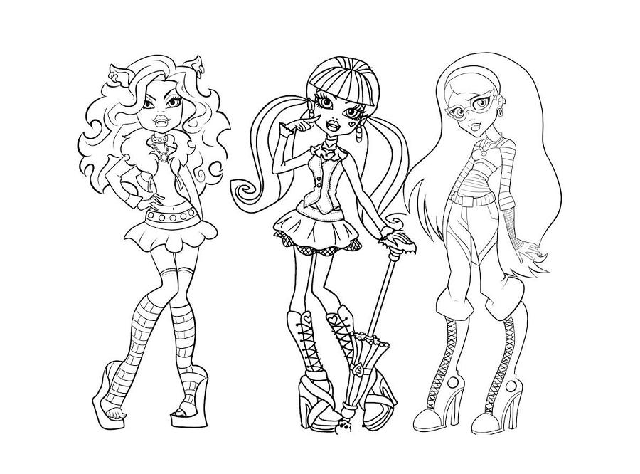 SGBlogosfera. María José Argüeso: MONSTER HIGH PARA COLOREAR