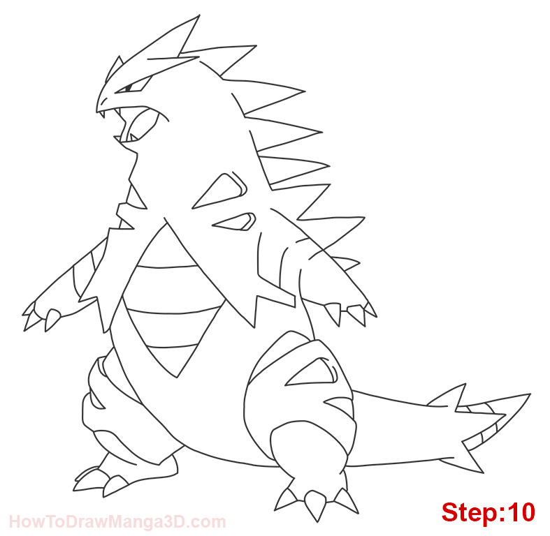 Tyranitar Coloring Pages Coloring