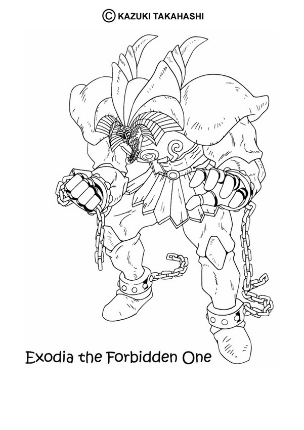 Exodia 1 Coloring Page Manga Pages Yu Gi Oh