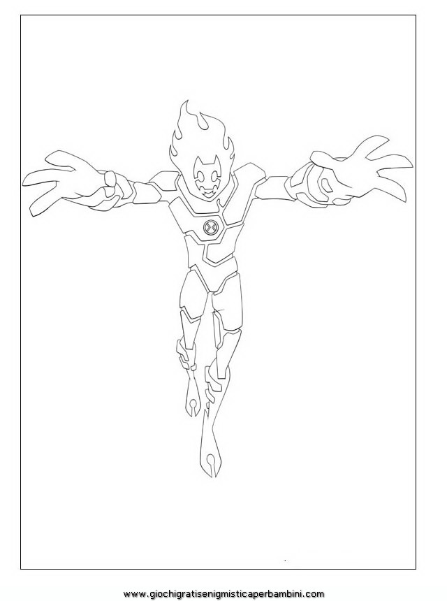 ras Ben 10 Colouring Pages (page 3)