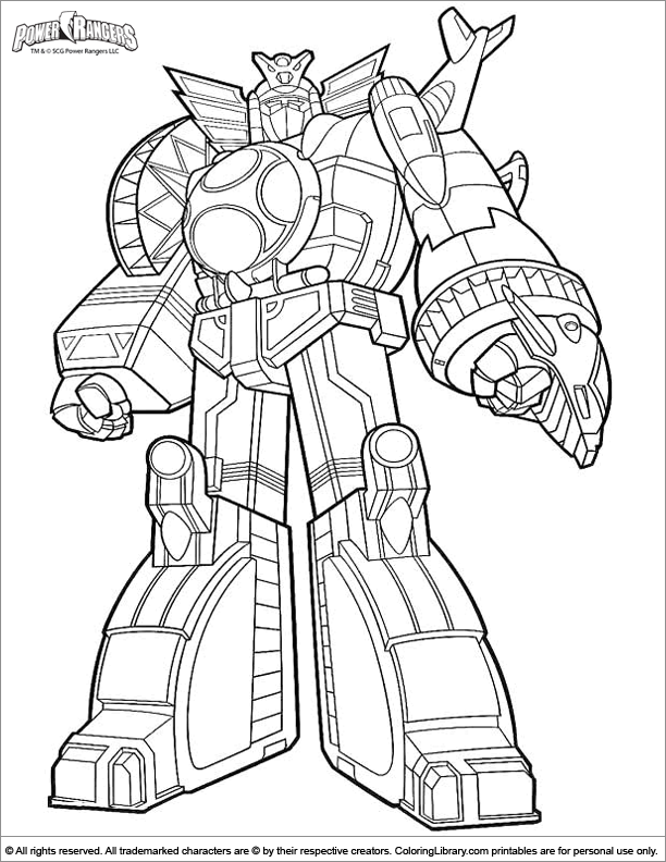 power rangers megasors Colouring Pages