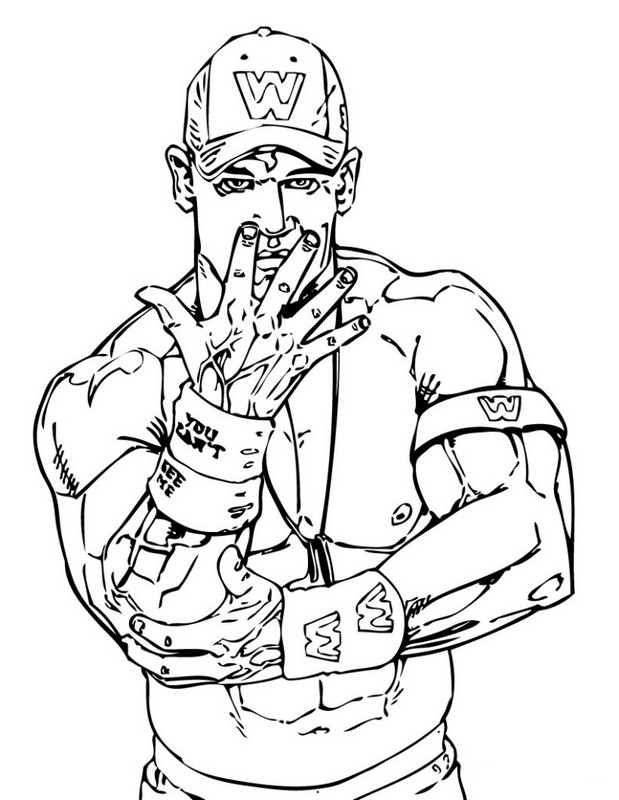 wwe primo Colouring Pages