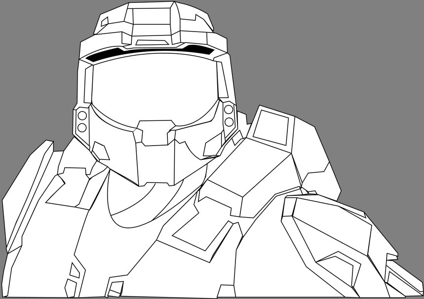 Master Chief Vector Outline by sruphil on deviantART