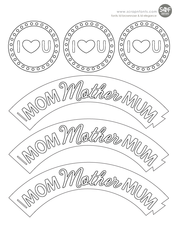 Fontaholic: FREEBIE FRIDAY: Mother's Day Color Me Cupcakes