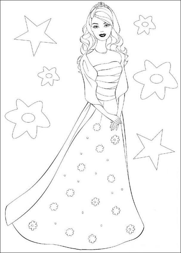 Barbie and The Princess Charm School Coloring Pages | Coloring