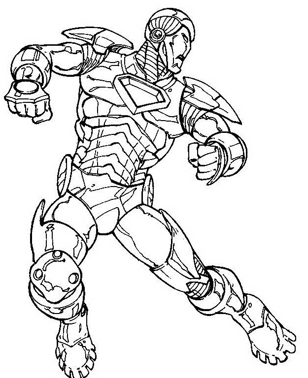 Disegni iron man da colorare az colorare for Iron man da colorare