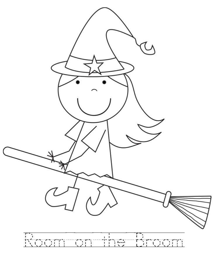 room on the broom color pages | Kid Color Pages | Pinterest