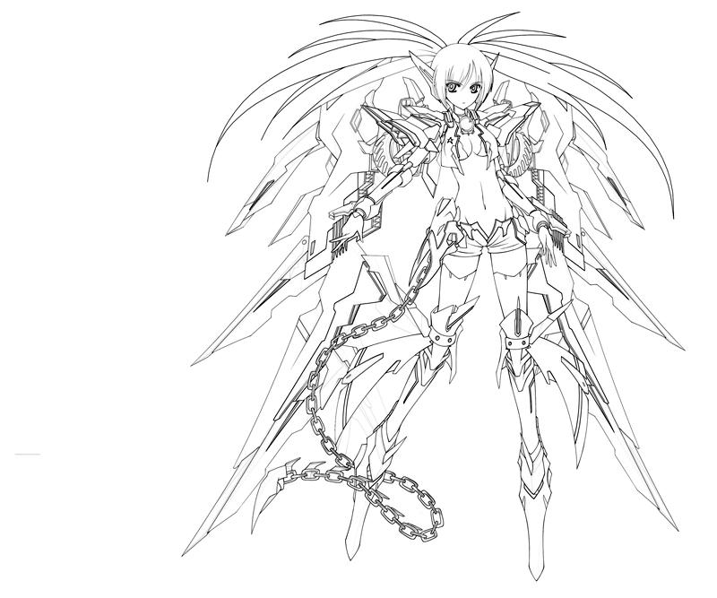 Chibiblack Rock Shooter Coloring Pages Crokky Coloring Pages Az Colorare