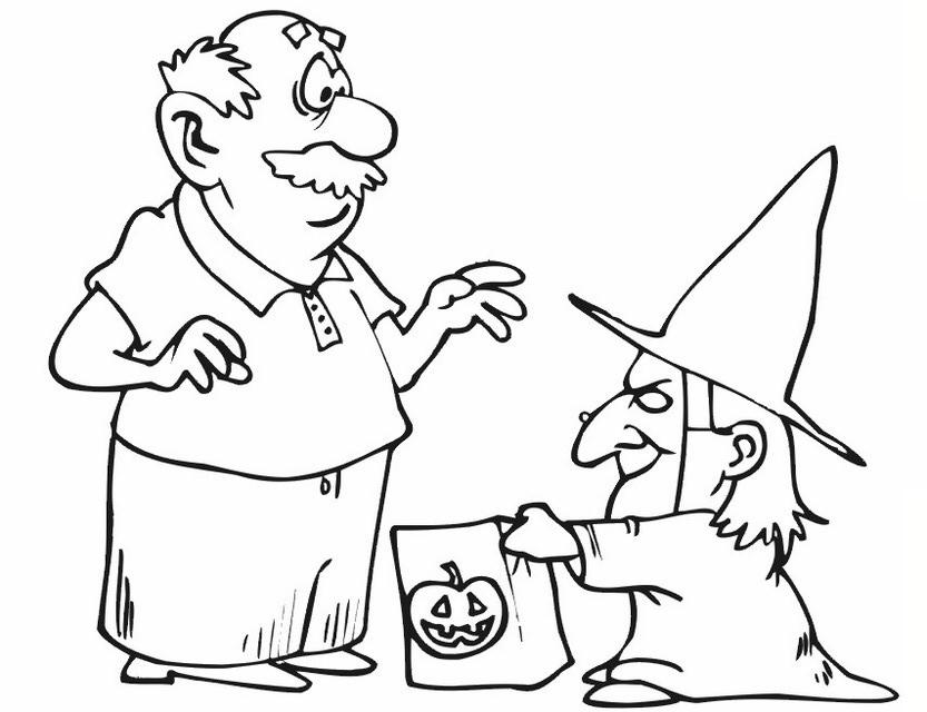 La befana disegni az colorare for La befana coloring page