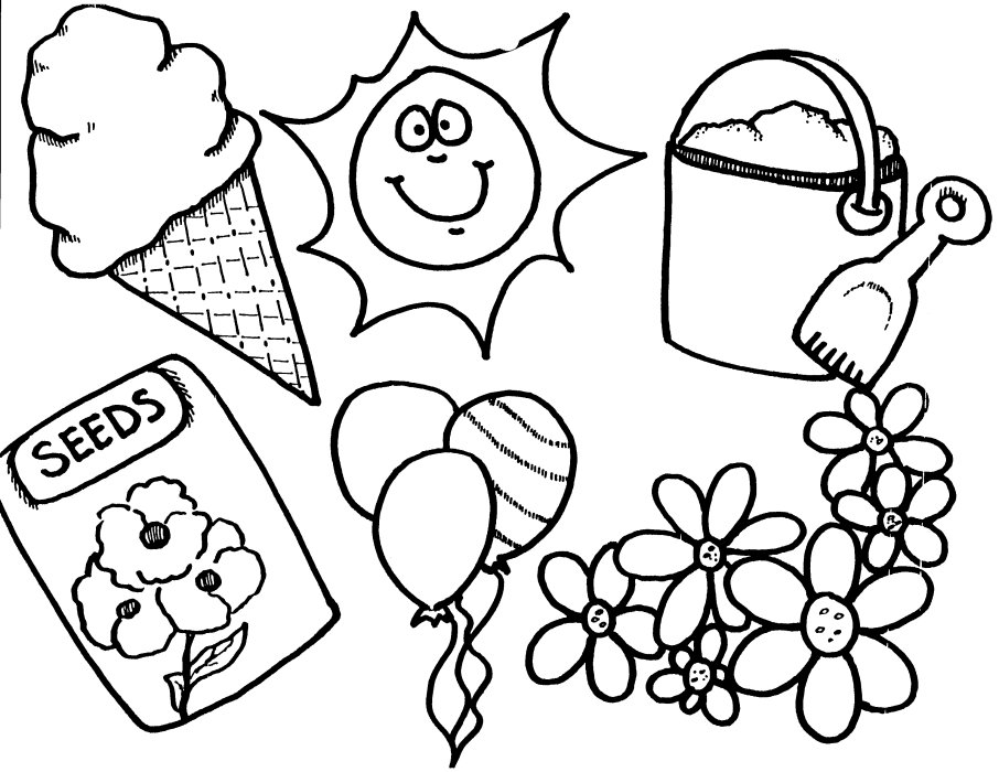 Preschool printable spring coloring pages Keep Healthy Eating Simple