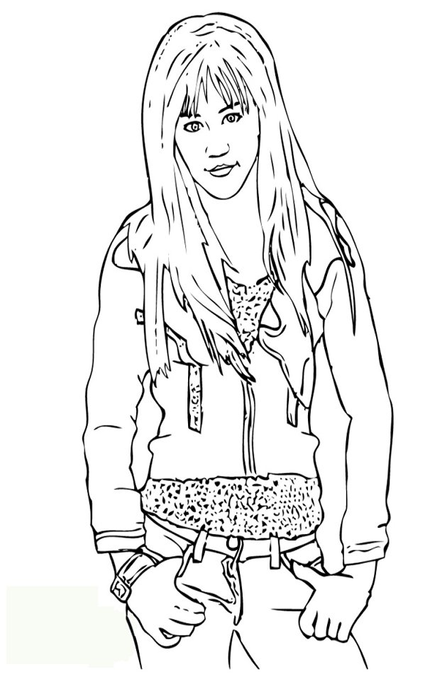Unique Comics Animation: greatest hannah montana coloring pages