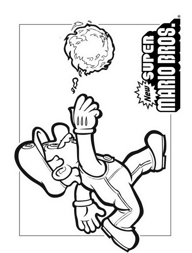 Mario Bros Funghi Colouring Pages (page 3)
