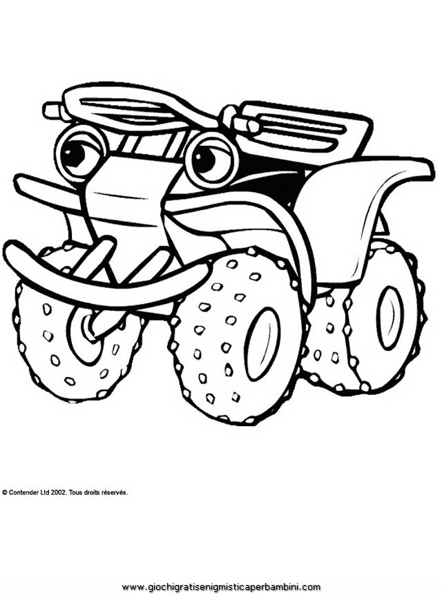 Disegni da colorare tractor tom