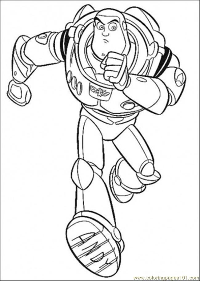 Buzz Lightyear Color Page - AZ Coloring Pages