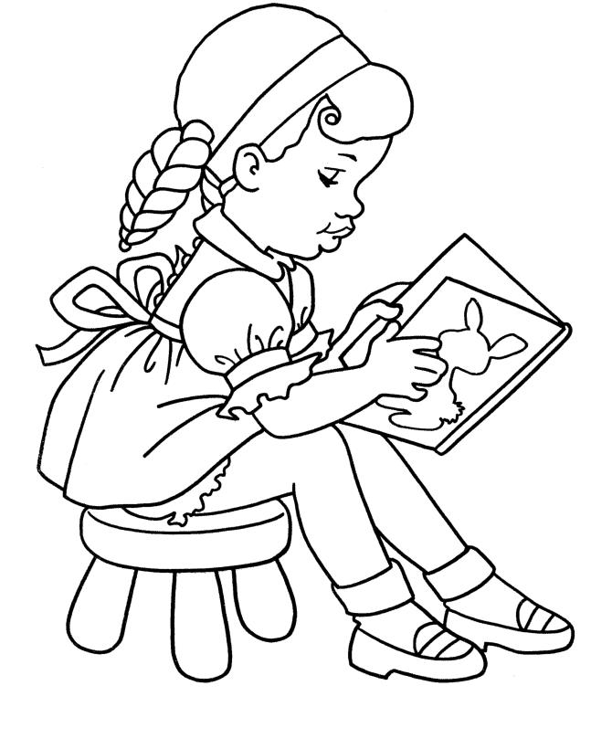 lee libros Colouring Pages