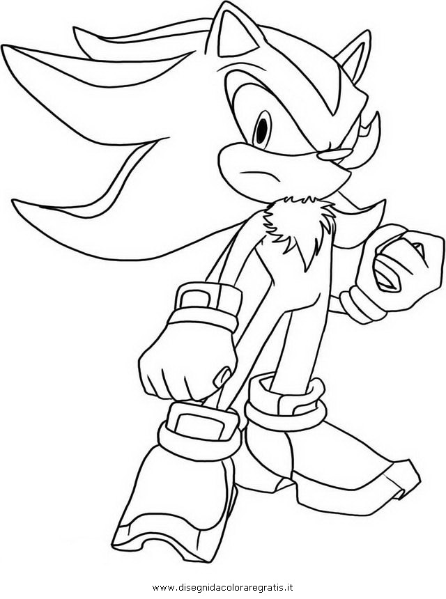 shadow g from sonic x Colouring Pages