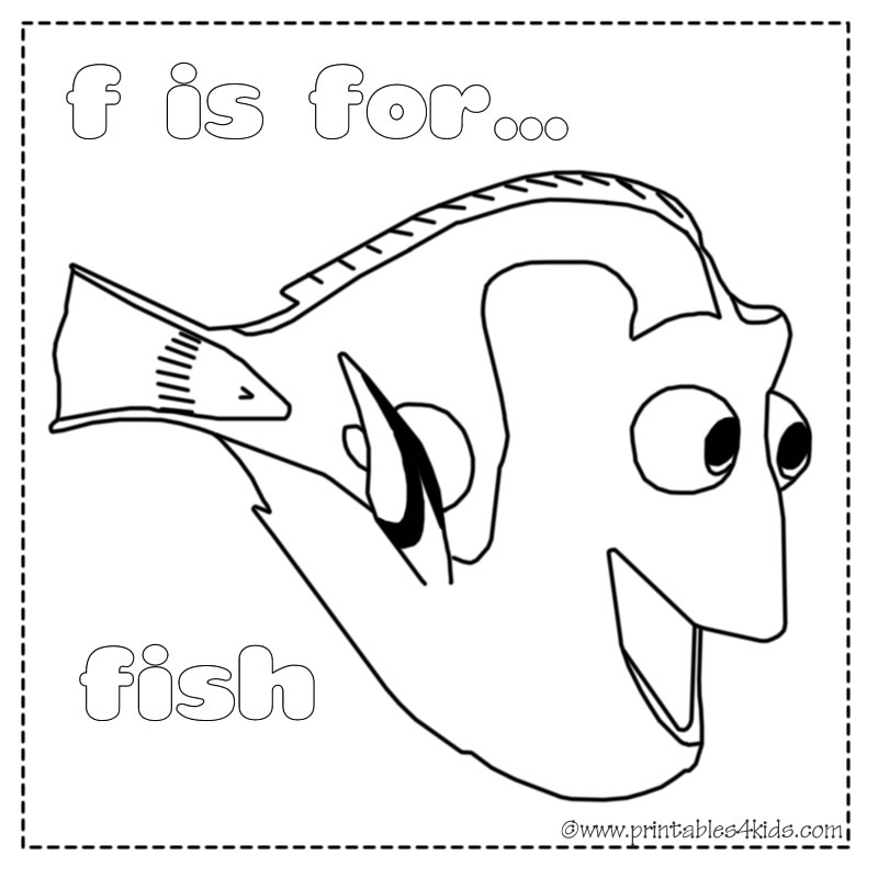 Cartoons Coloring Pages: Nemo and Dory Coloring Pages