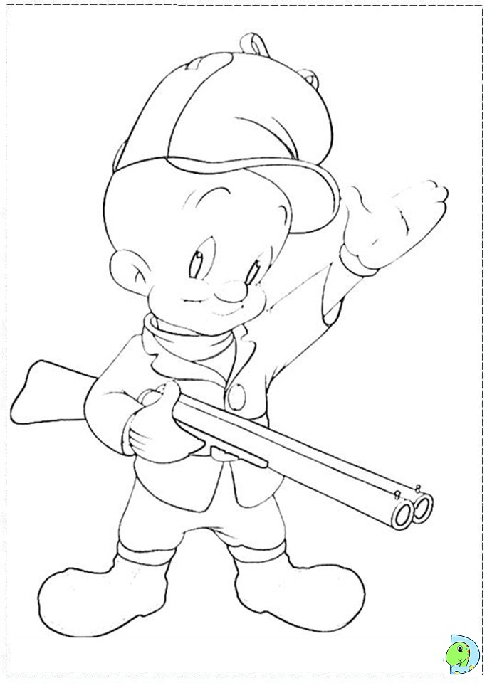 Elmer FUD Colouring Pages