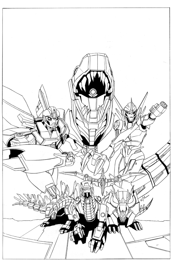 Color pencils set az colorare for Transformers prime beast hunters coloring pages