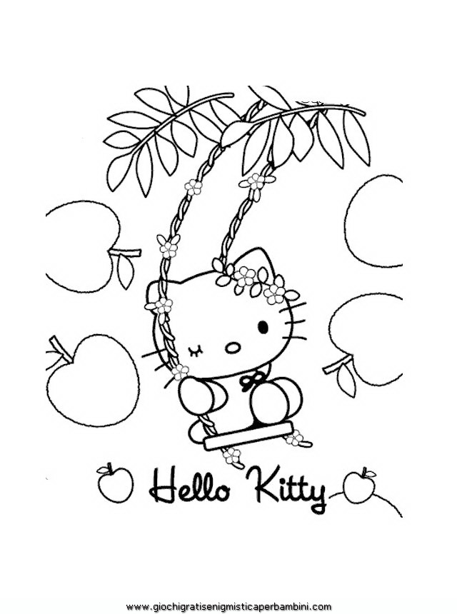Disegni Da Colorare Hello Kitty Numeri
