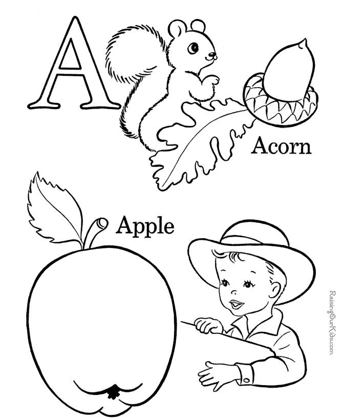 Free Printable Alphabet Coloring Pages Kids Drawing Coloring Page