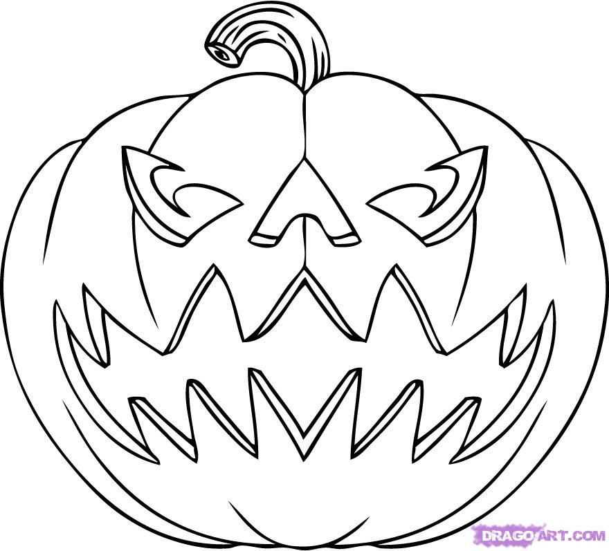 Halloween Pictures To Print And Color For Free