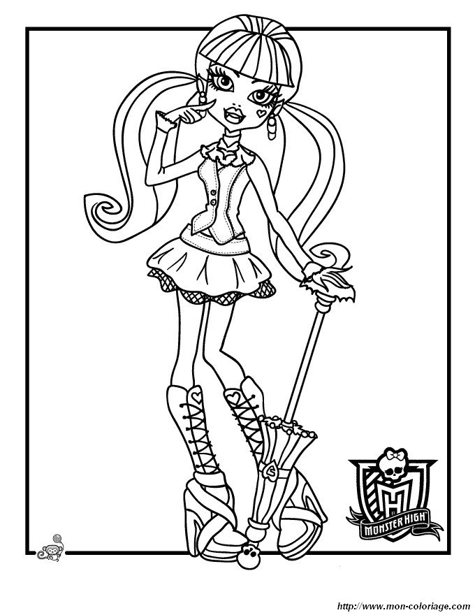 Colorare Monster High, disegno monster high 14