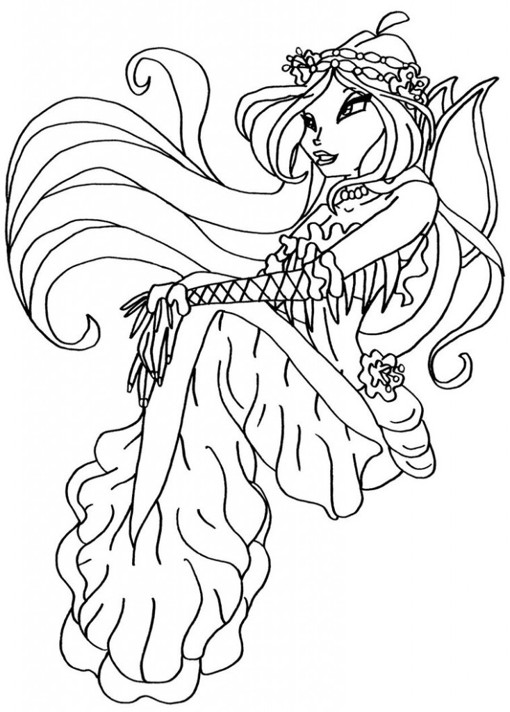 pixie winx Colouring Pages (page 3)