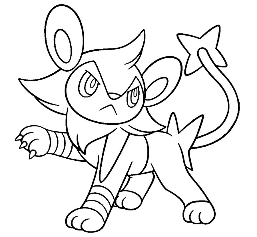 Luxio base by ConyTheWolf on deviantART