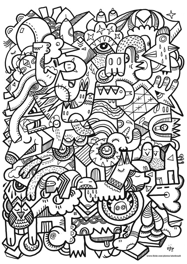crazy faces coloring page | Kuvis/askartelu | Pinterest