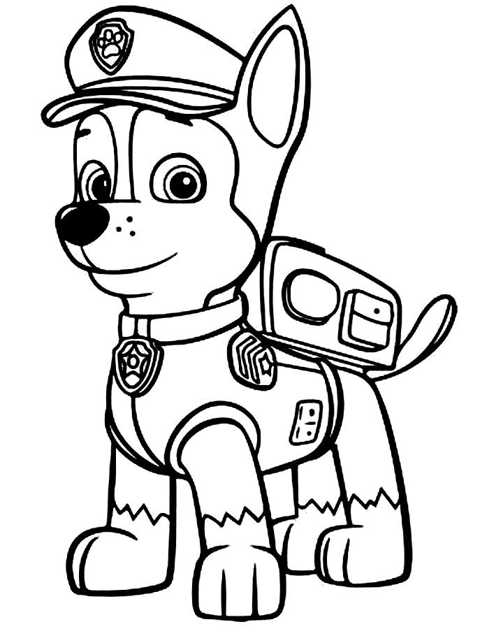 Paw Patrol Masks Colouring Pages Page 2 Az Colorare