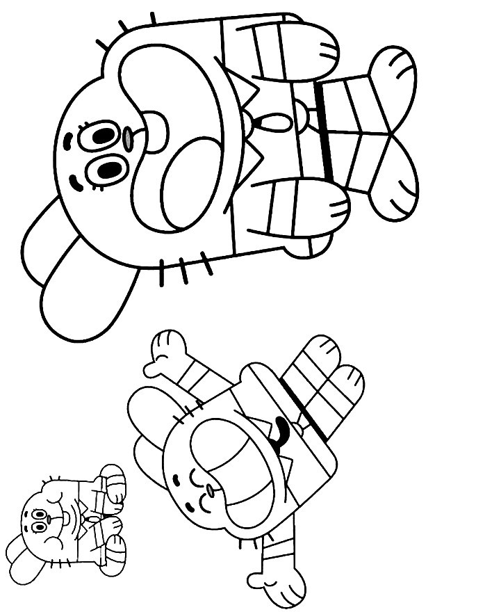 Coloring Pages Of Amazing World Of Gumball Richard ...