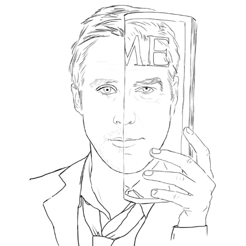 Colour Me nos Buone Pone un colorear un Ryan Gosling