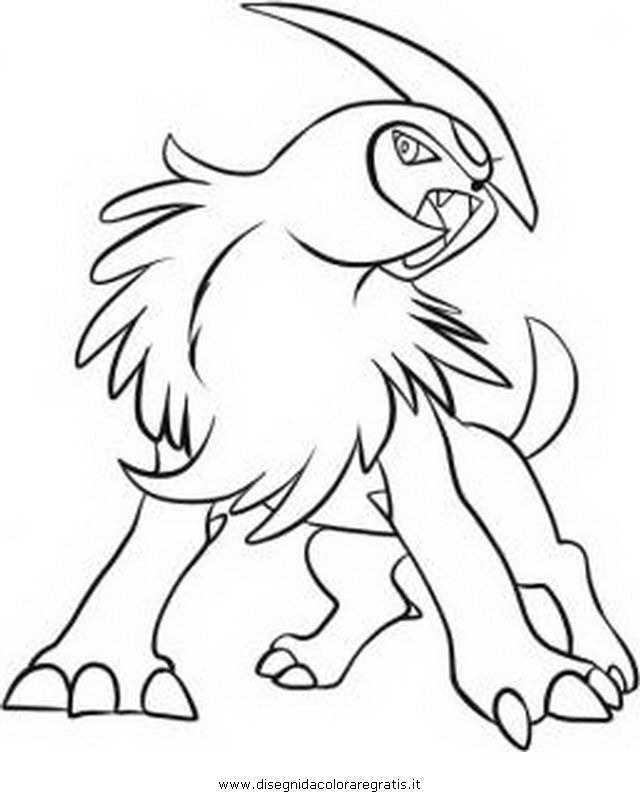 Mega Pokemon Absol Coloring Pages