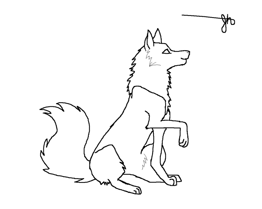 Wolf Line Art Free to color by jacobhunter on deviantART