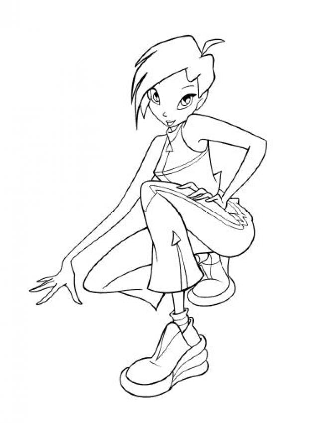 TECNA coloring pages - Tecna the Winx club fairy