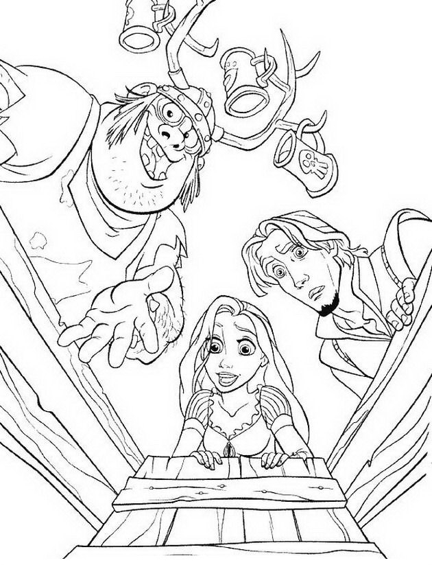 madre Gothel Colouring Pages (page 2)