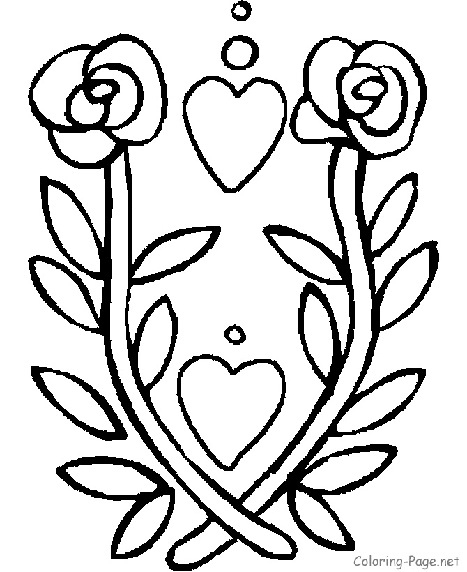 Flaming Rose Coloring Pages Crokky Coloring Pages
