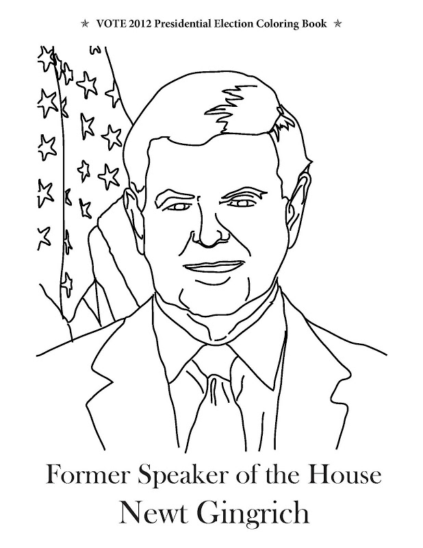election coloring pages for kids - photo#25
