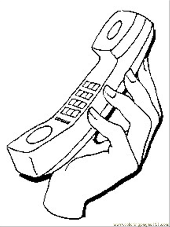 Coloring Pages Telephone1 (Technology > Telecom) - free printable ...