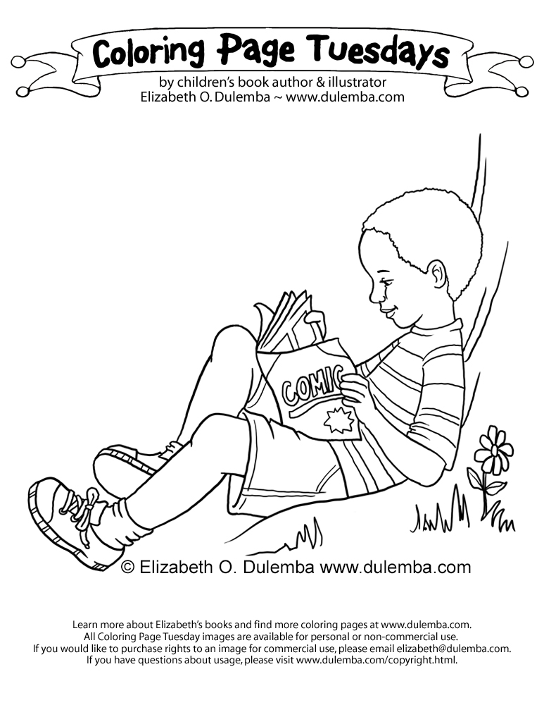 dulemba: Coloring Page Tuesday - Under a Tree