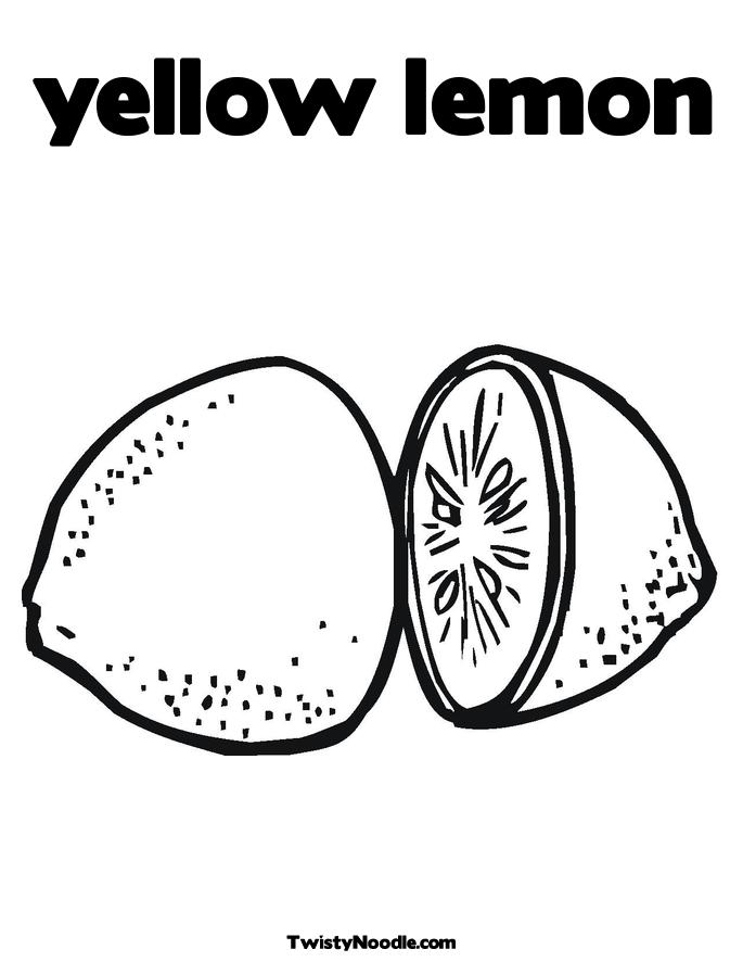 yellow lemon Colouring Pages (page 2)